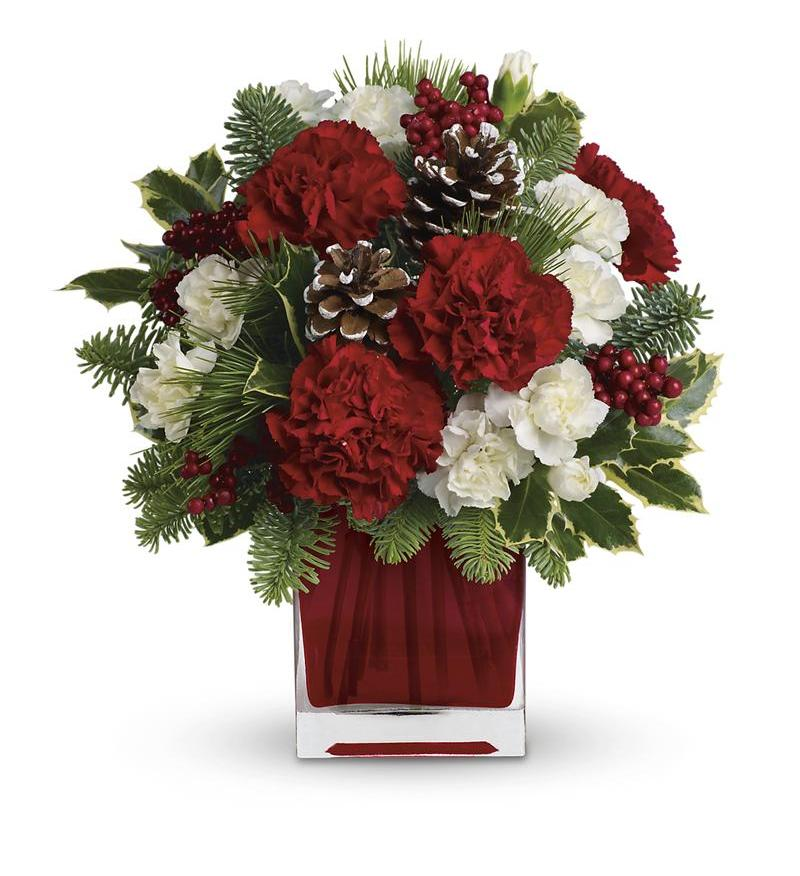 Holiday Glow Centerpiece Teleflora : Make merry by teleflora twr a