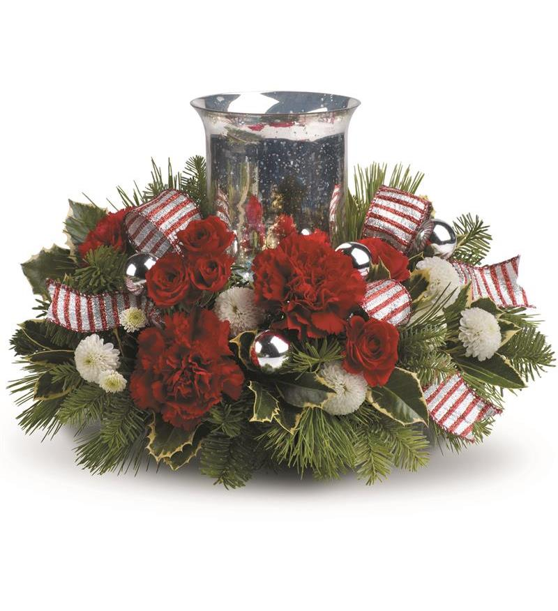 Teleflora s holly jolly centerpiece twr a