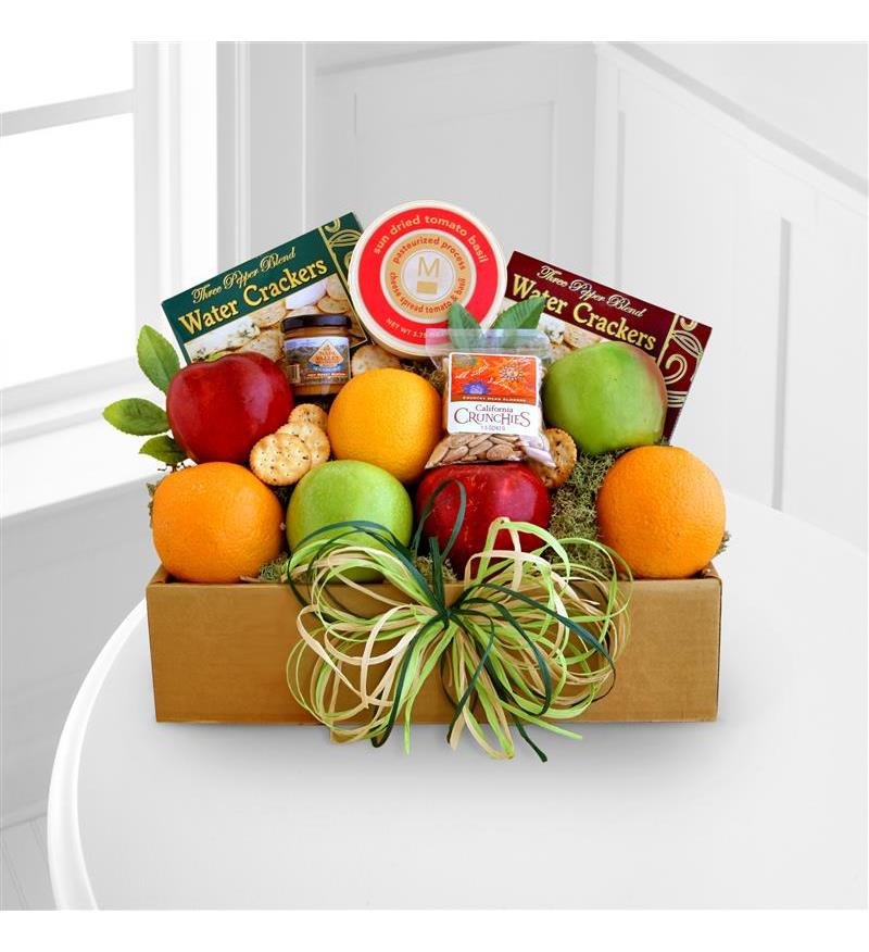 FTD Fruit and Cheese Box - Better Flower Arangement - As Shown