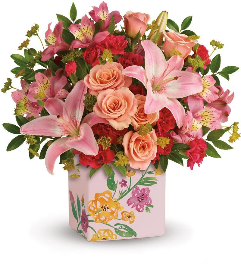 Teleflora's Brushed With Blossoms Bouquet - As Shown