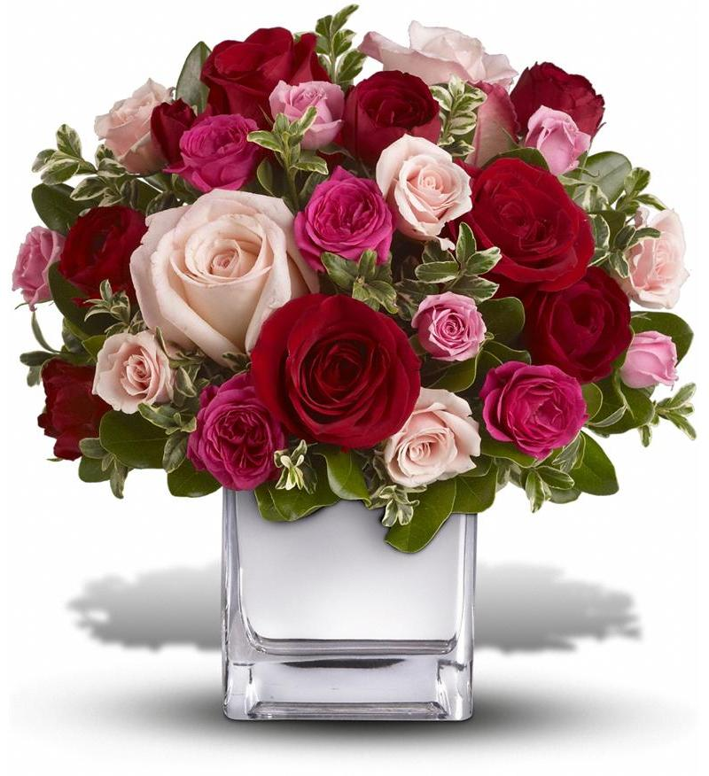 Faith hill love medley t400 2a for Pink roses flower arrangements