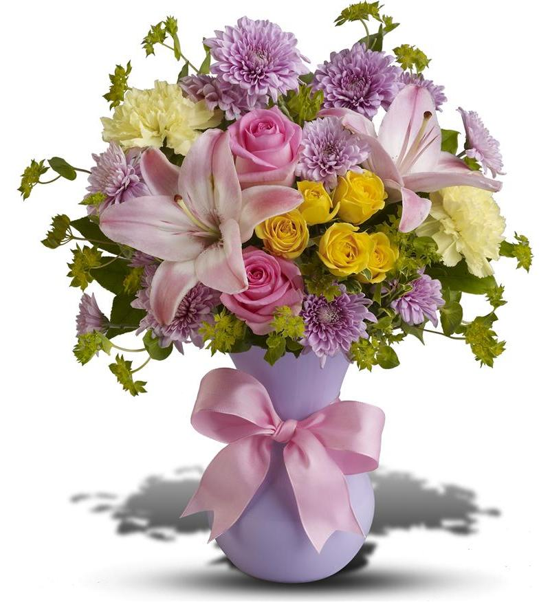 Perfectly pastel bouquet tfweb605 for Pastel colored flower arrangements